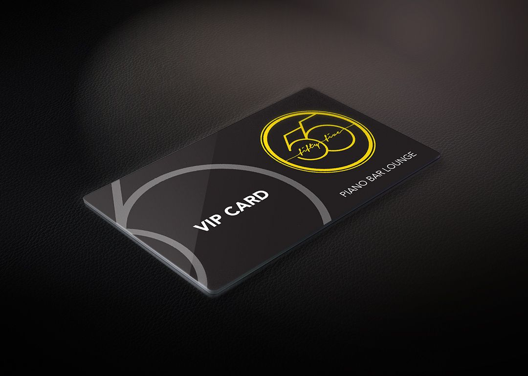 55 Lounge Bar VIP Card ID O8 Origin8 Branding