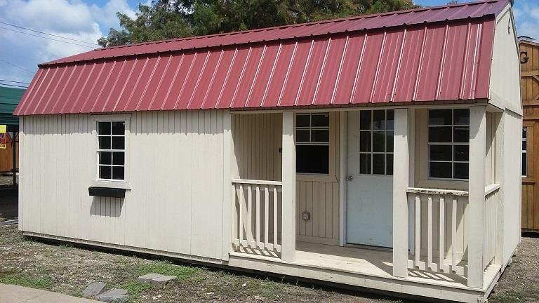 12x20 Corner Porch Lofted Cabin Graceland Portable