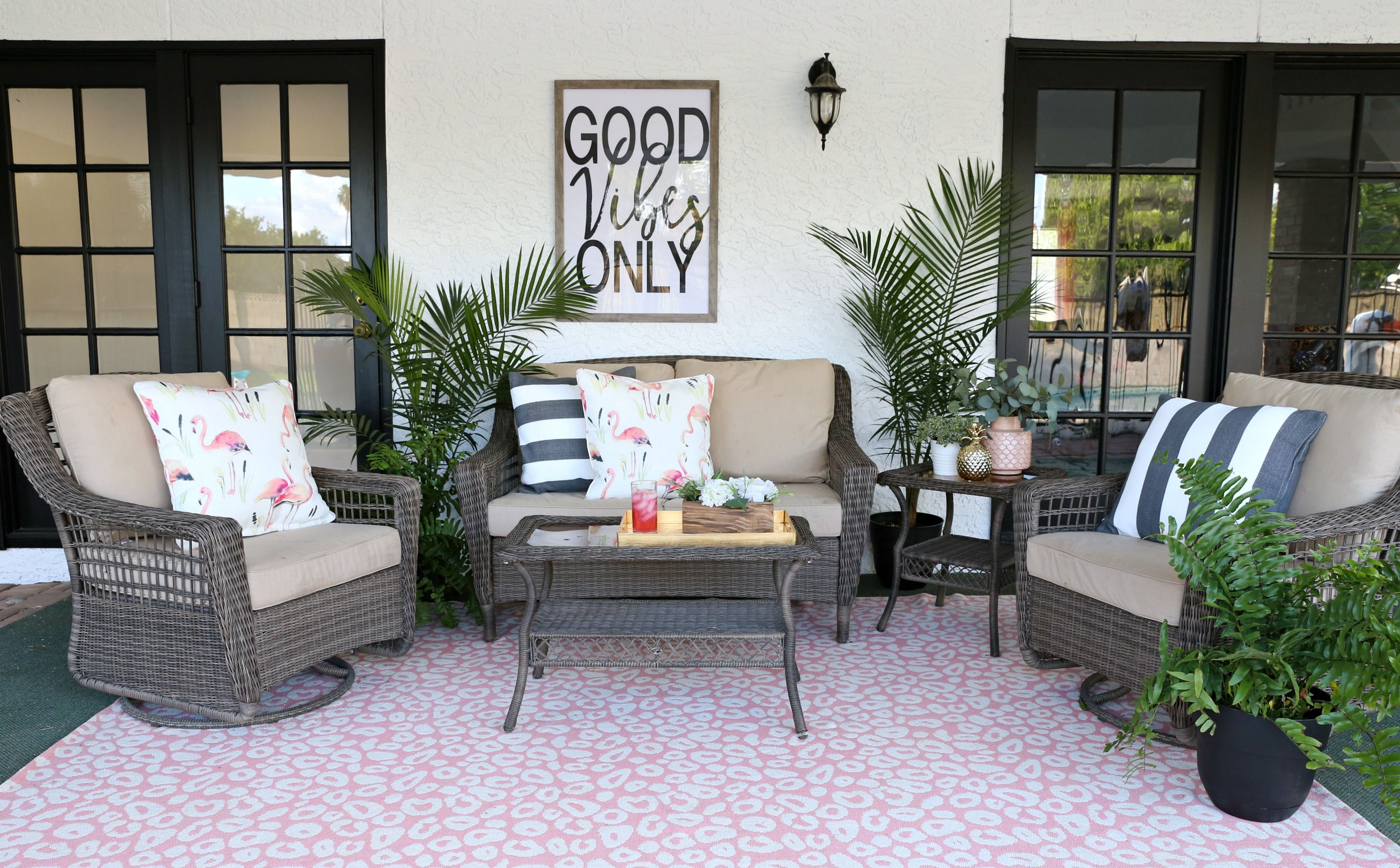 palm springs inspired patio decor
