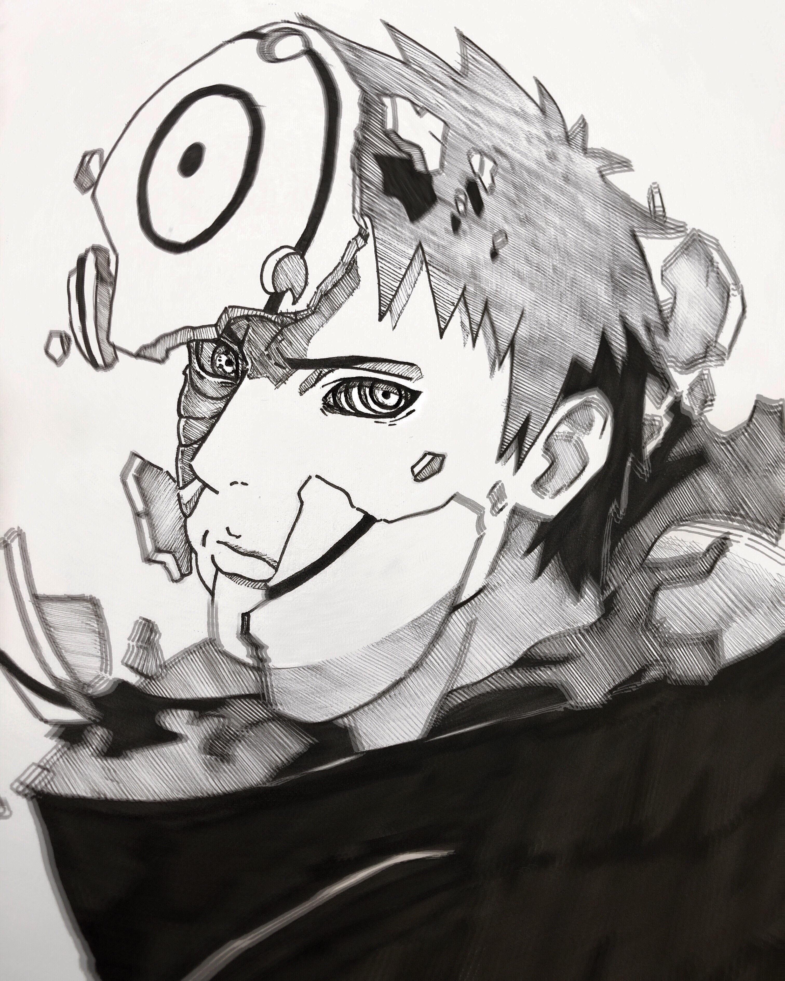 Back With Another One Drew Obito Uchiha Naruto Naruto Sketch Naruto Tattoo Naruto Drawings