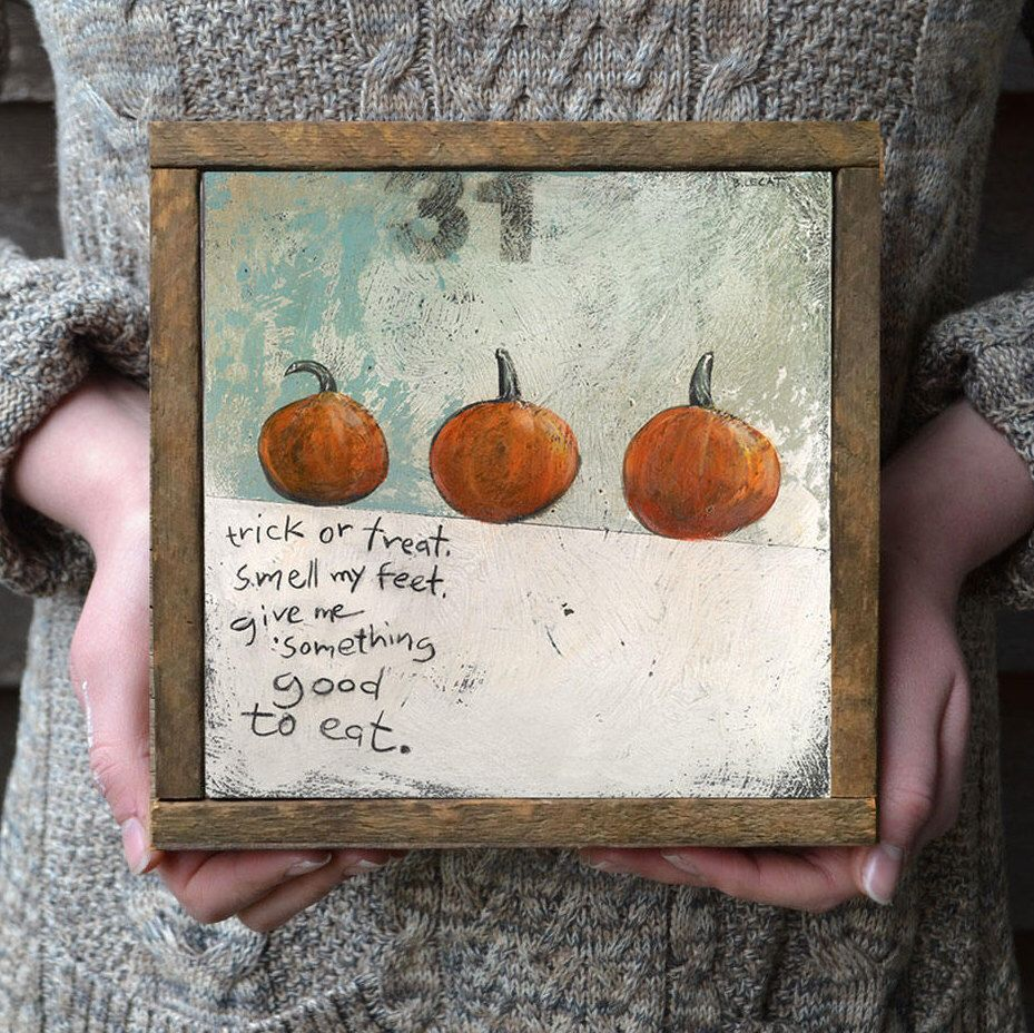 Halloween Decor, Trick or Treat, Pumpkins Print, Pumpkin Prints - whimsical halloween decorations