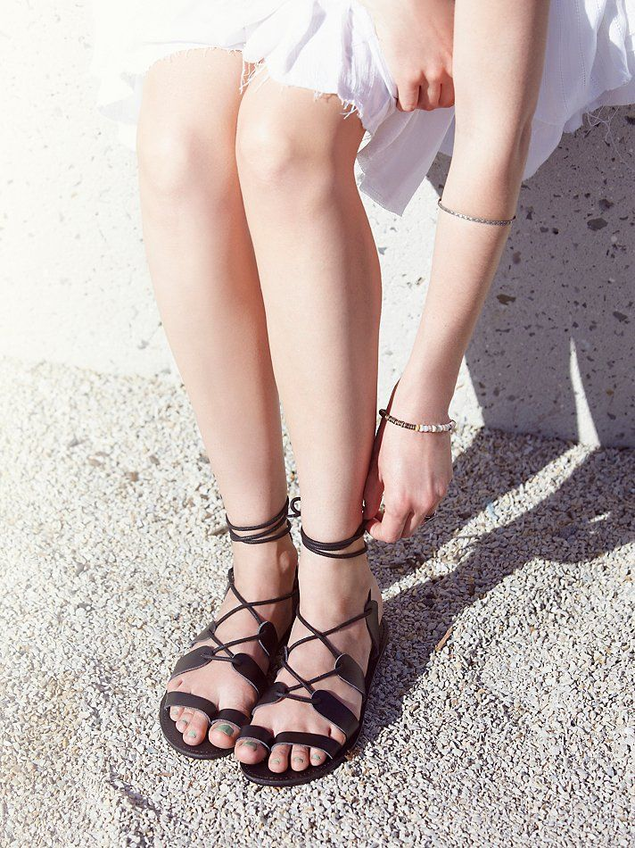 $88 - Faryl Robin + Free People Vegan Tie Up Sandal at Free People Clothing Boutique