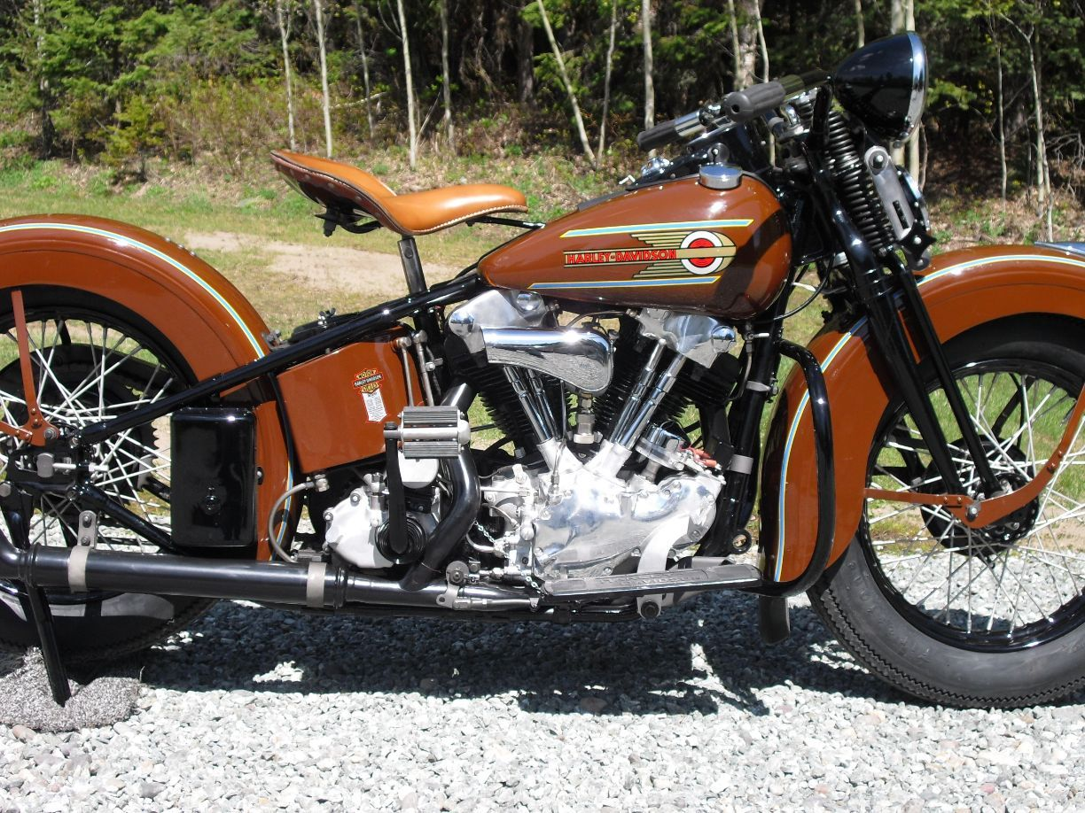 Harley Davidson: 1937 Harley Davidson Knucklehead. Now This Is A BEAUTY
