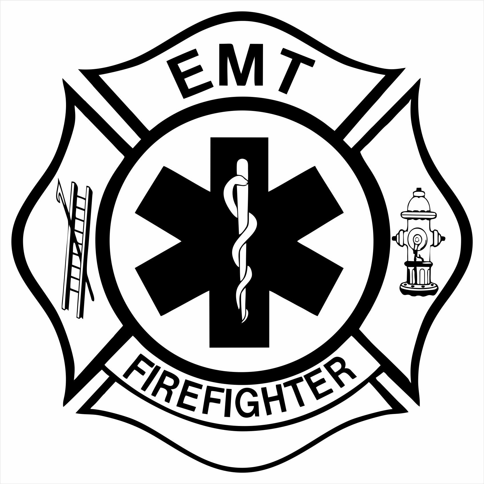 """EMT/Firefighter Maltese Cross"" Police themed design can"