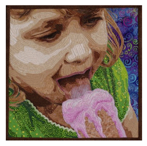 How to Select Quilting Stitches to Enhance Your Artwork | Stitches ... : face quilts - Adamdwight.com