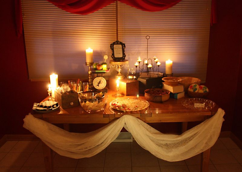 Harry Potter Wedding Shower-Food Table Ideas