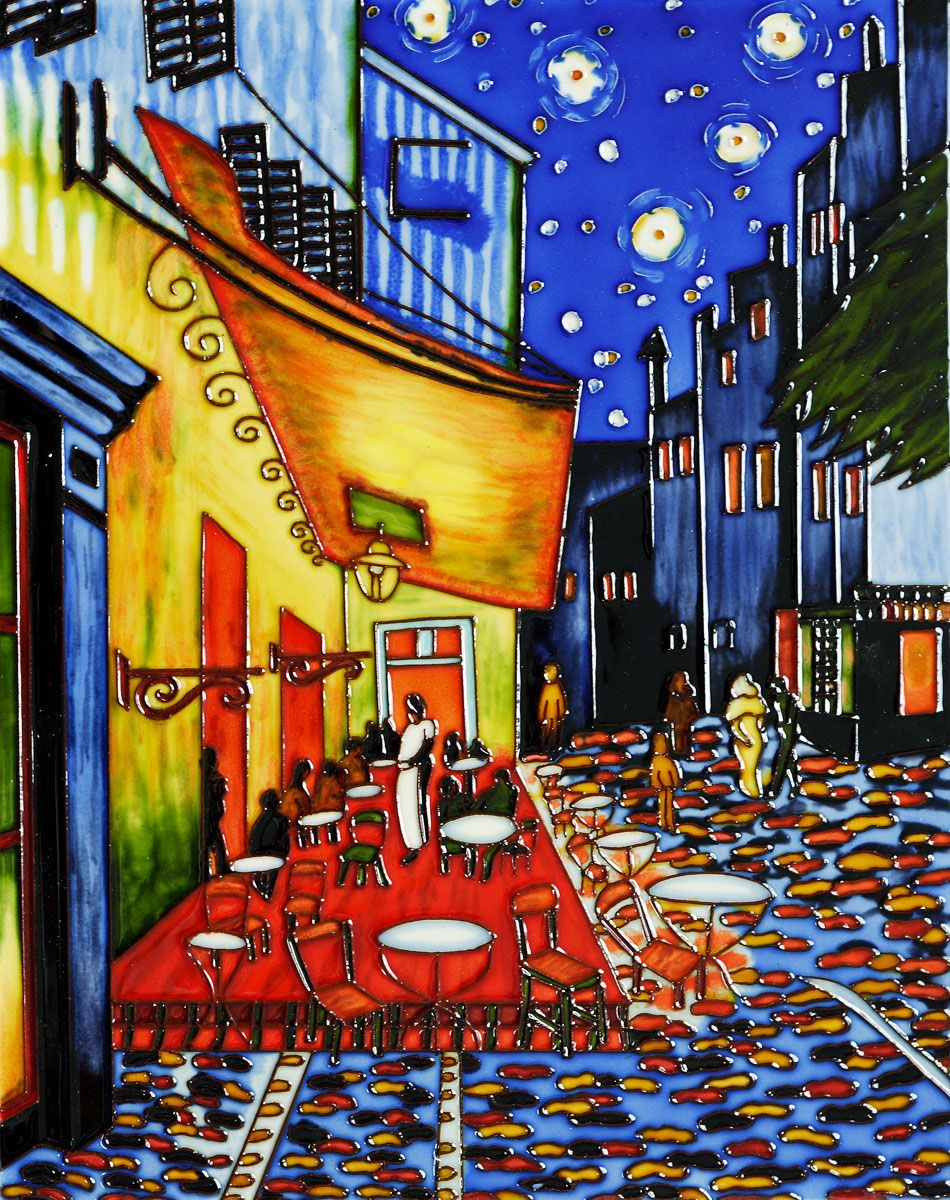 "cafe terrace at night,"" vincent van gogh - van gogh's depiction of"