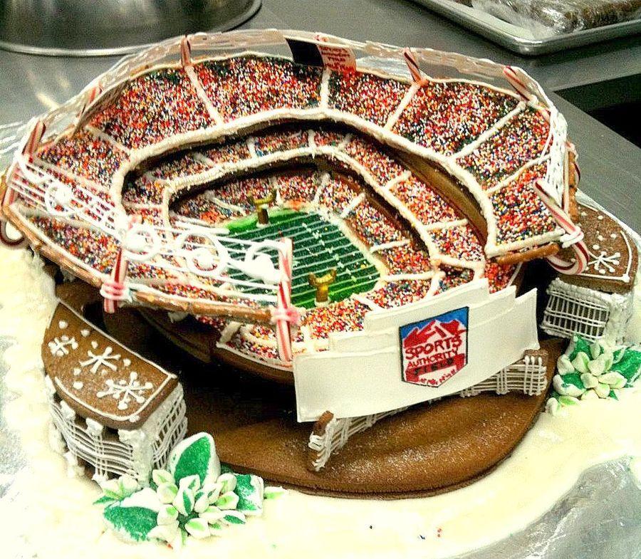 Believe — Gingerbread Houses. Go Broncos!!!