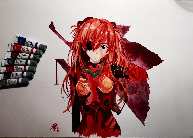 Draw Asuka @(EVANGELION) Drawings ART - YouTube