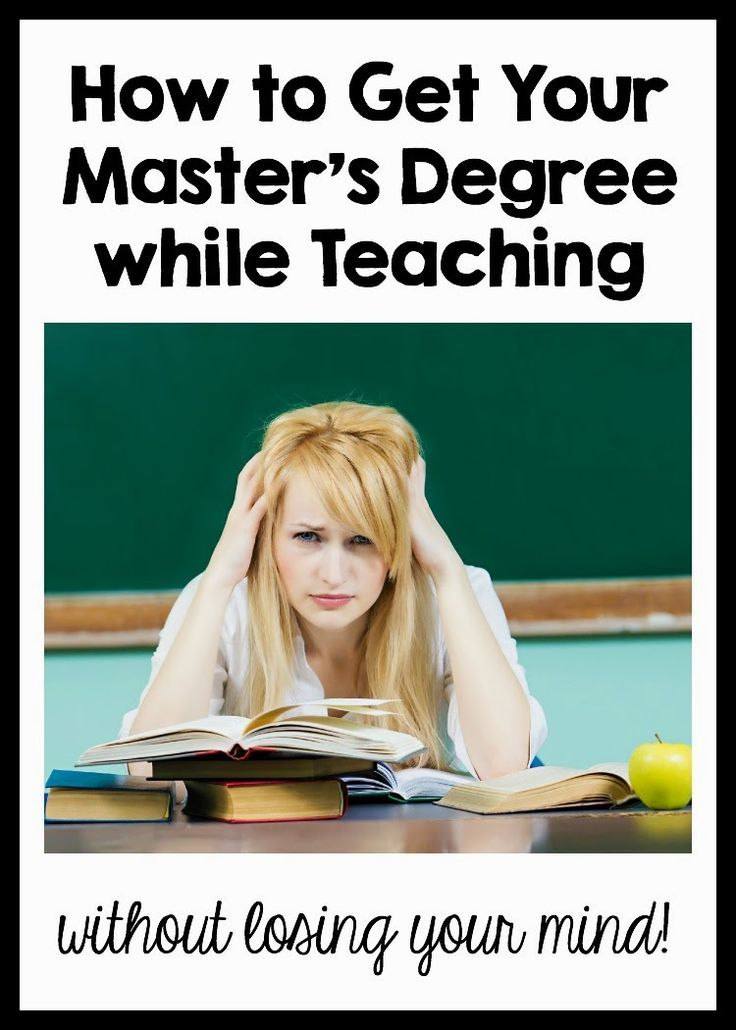 how to get your masters degree