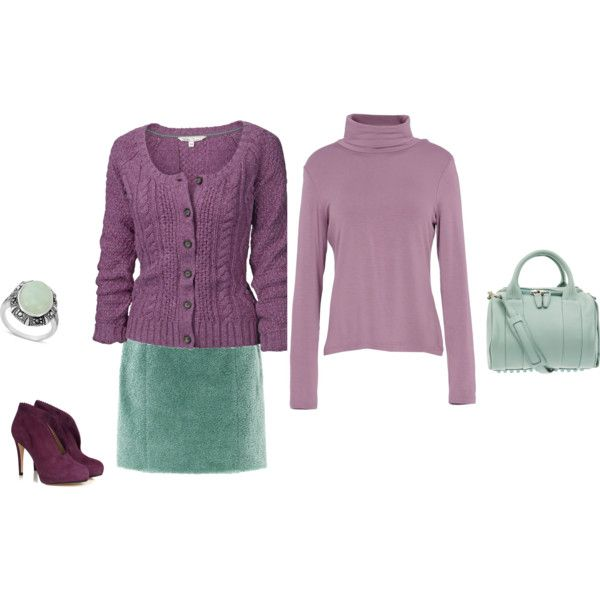 """Soft Summer Light - purple,mint"" by adriana-cizikova on Polyvore"