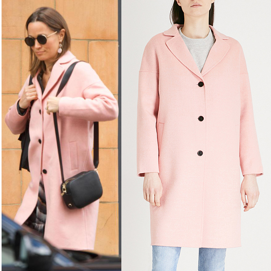 CLAUDIE PIERLOT Pink Coat as seen on Pippa Middleton. Click