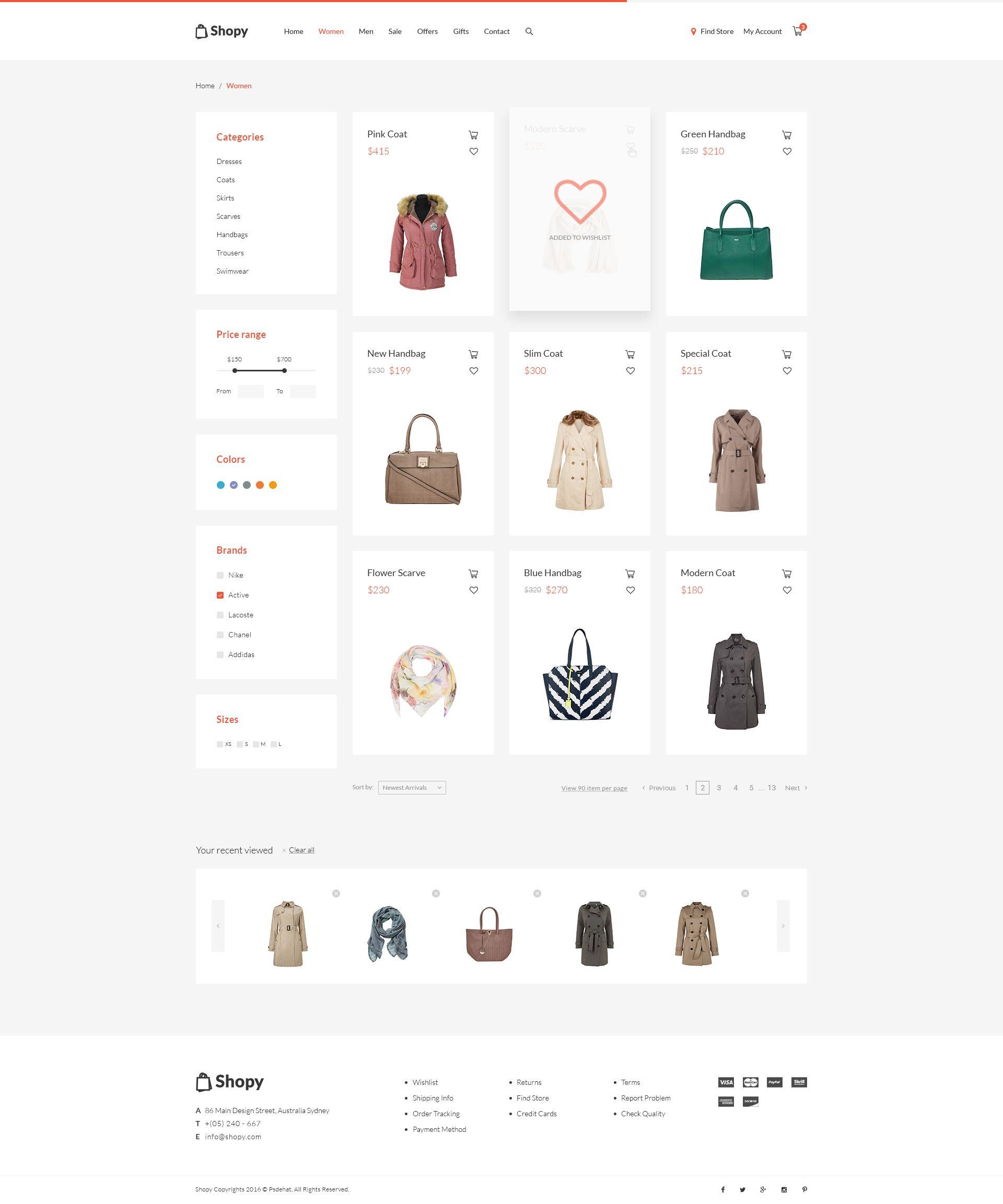 Shopy Online Shop Psd Template Shopping Psd Templates Templates