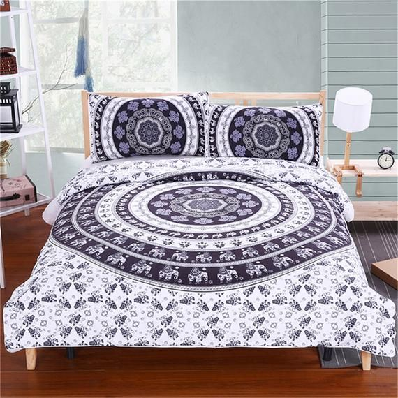 3d Mirror Flower D102 Duvet Cover Bedding Set Quilt Cover Etsy Boho Bedding Sets Boho Bedding Single Bedding Sets
