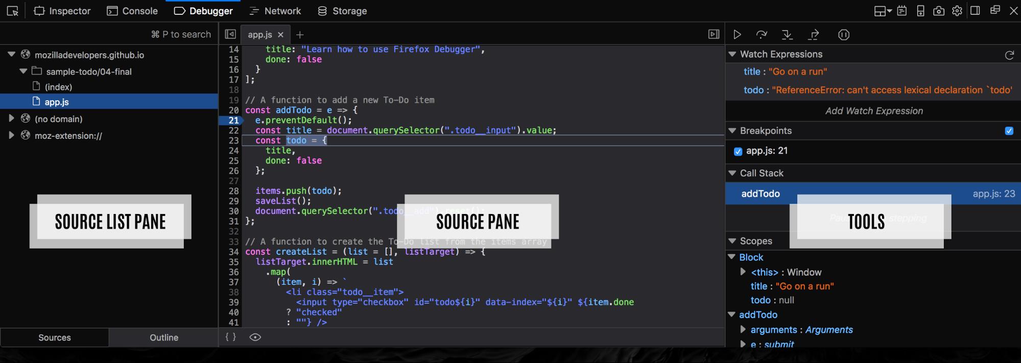 debugging javascript with a real debugger you