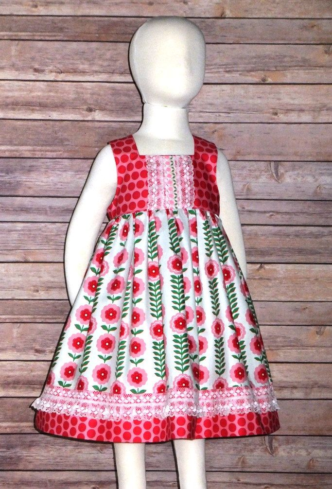 ebce64ee7 Cotton Boutique Sun Dress Pink Flowers Infant Baby 6 12 18 24 month Toddler  Girls 2T 3T 4T 5T Handmade Sleeveless Twirl Skirt Spring Summer by ...