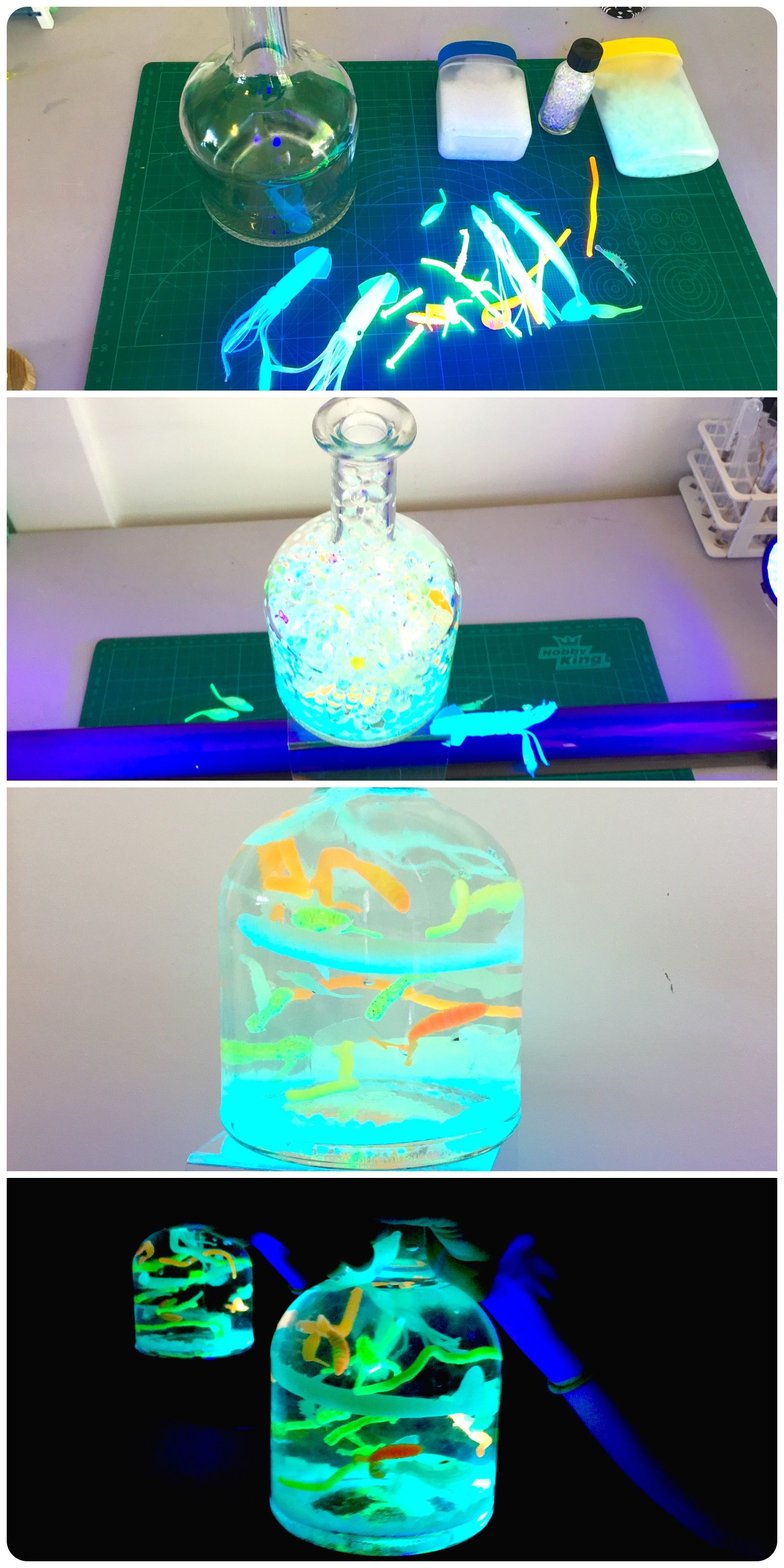 Interesting Variation Of Ocean In A Bottle Discovery Bottle Glow In The Dark Ocean Creatures In A Bottle Https Discovery Bottles Bottle Lamp Glow