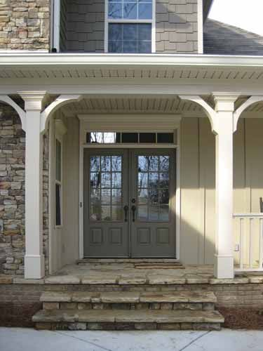 Exterior House Colors With Stone White Trim