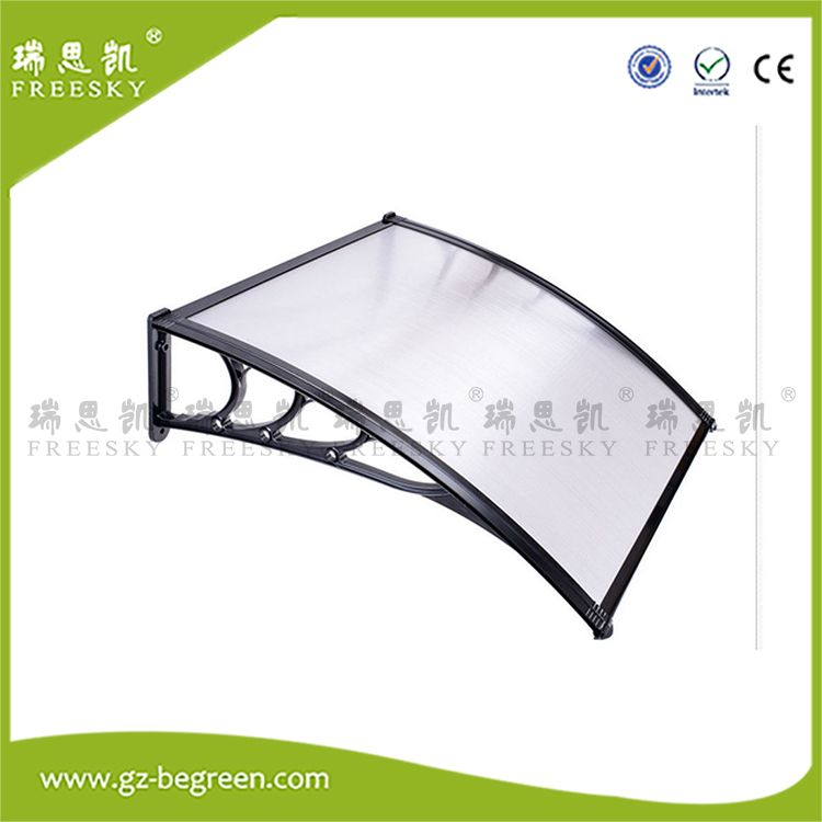 60x100cm Rain Brown Door Canopy Awning Window Shelter Cover Front Porch Outdoor Garden Shade Patio Roof Protects from Sun Snow