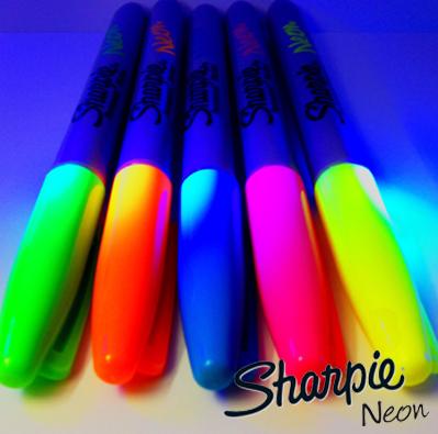 Introducing Sharpie Neon! We Love Them!!  #blacklightfun #sharpieneon #newproducts