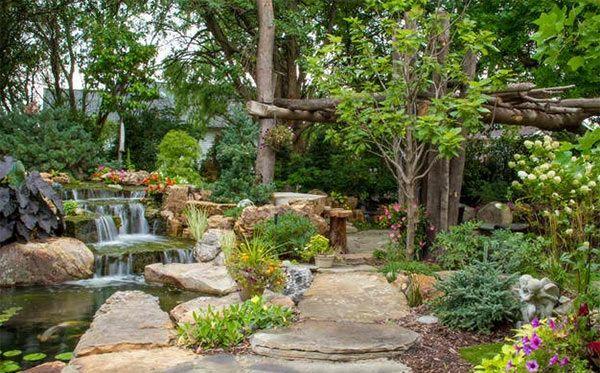 gartenteich mit wasserfall anlegen – proxyagent, Gartenarbeit ideen