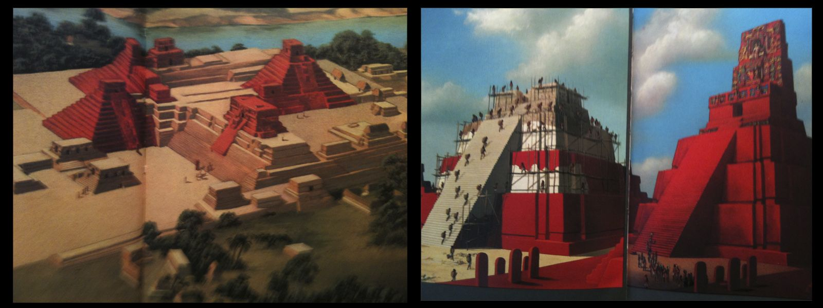 eugene ray architect radiant color in the jungle mayan temples were painted red