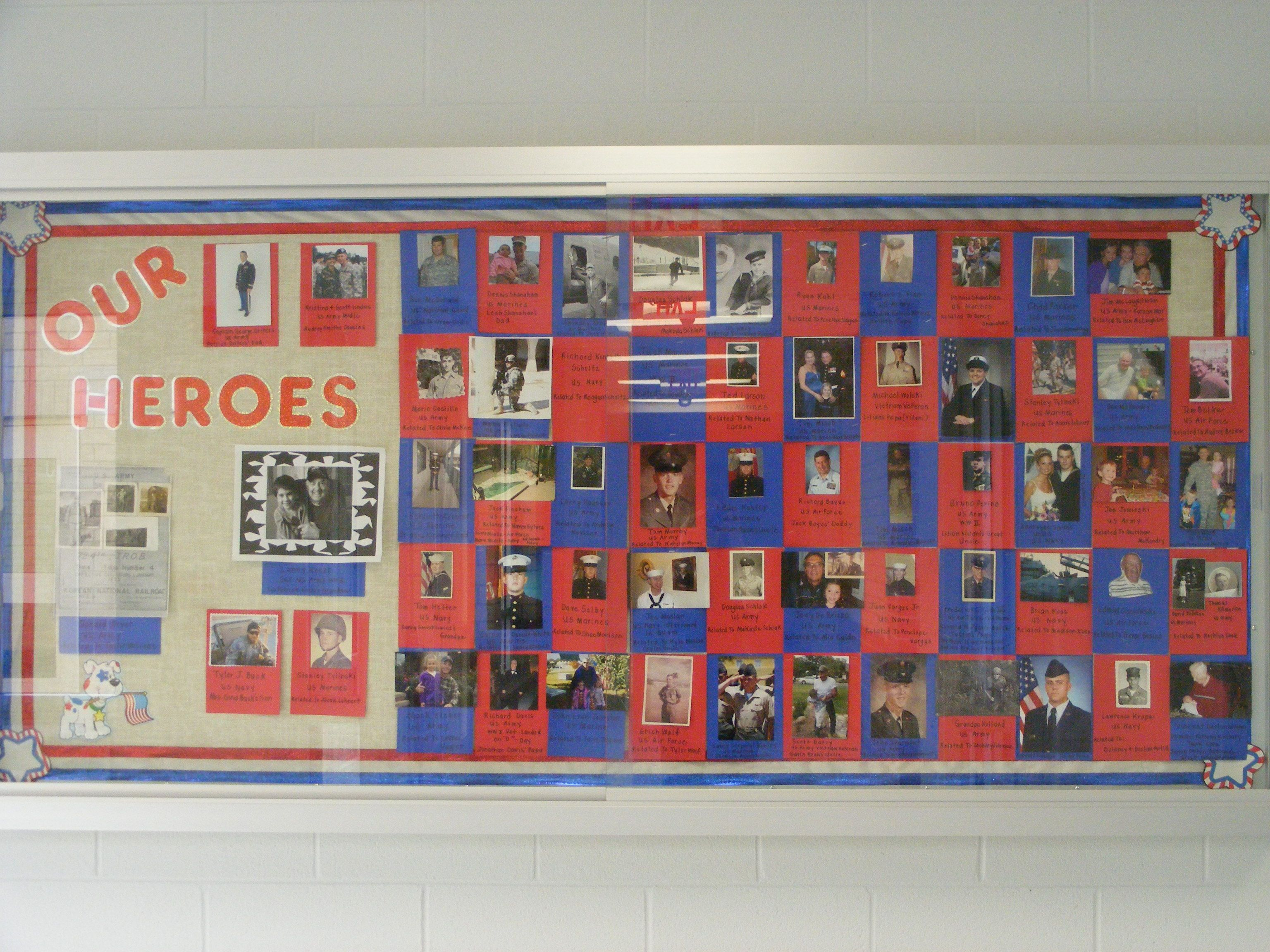 Classroom Ideas For Veterans Day : Veteran s day hero bulletin board school stuff