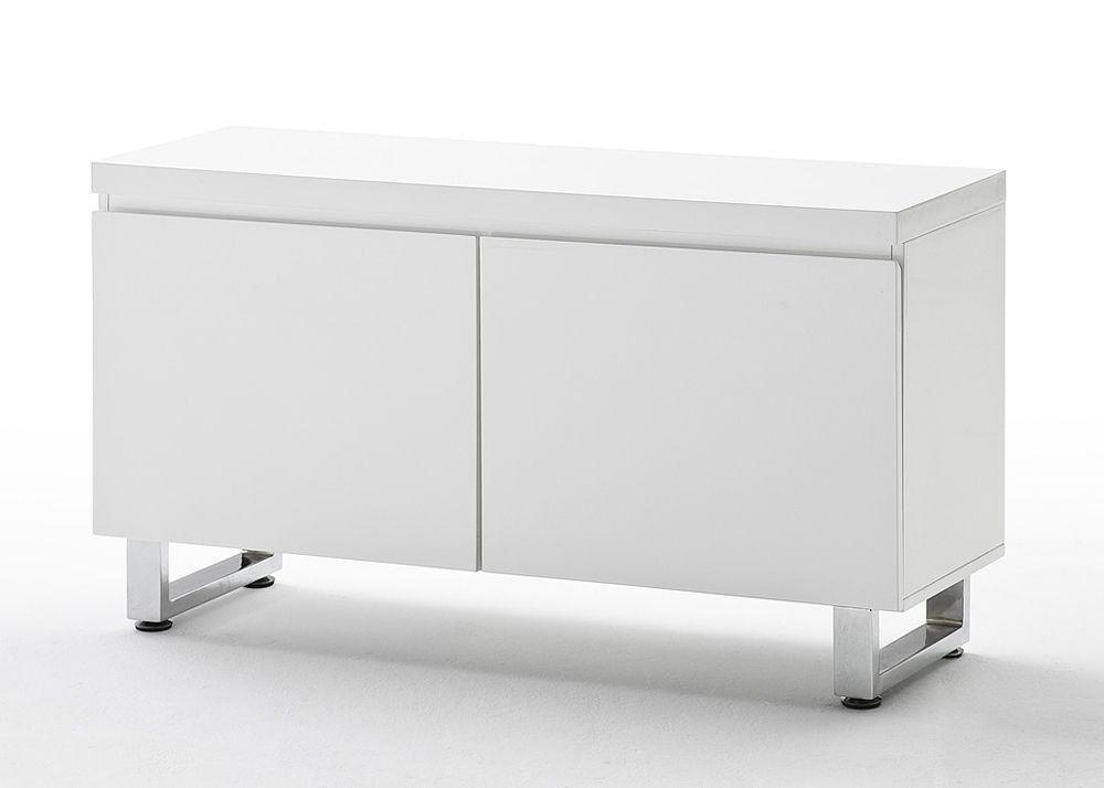 Kommode Sidney Dielenmöbel Unterschrank 2-türig Weiß Hochglanz 4688