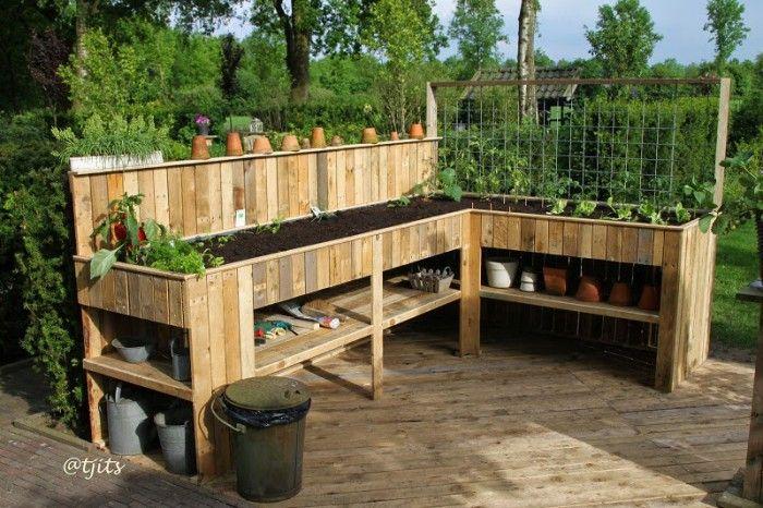 Moestuin Zelf Maken : Mooie moestuin op poten container gardening garden small