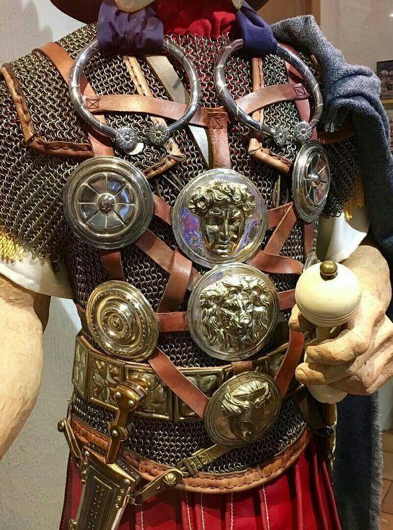 Roman set of cast Brass reenactors/' phalerae