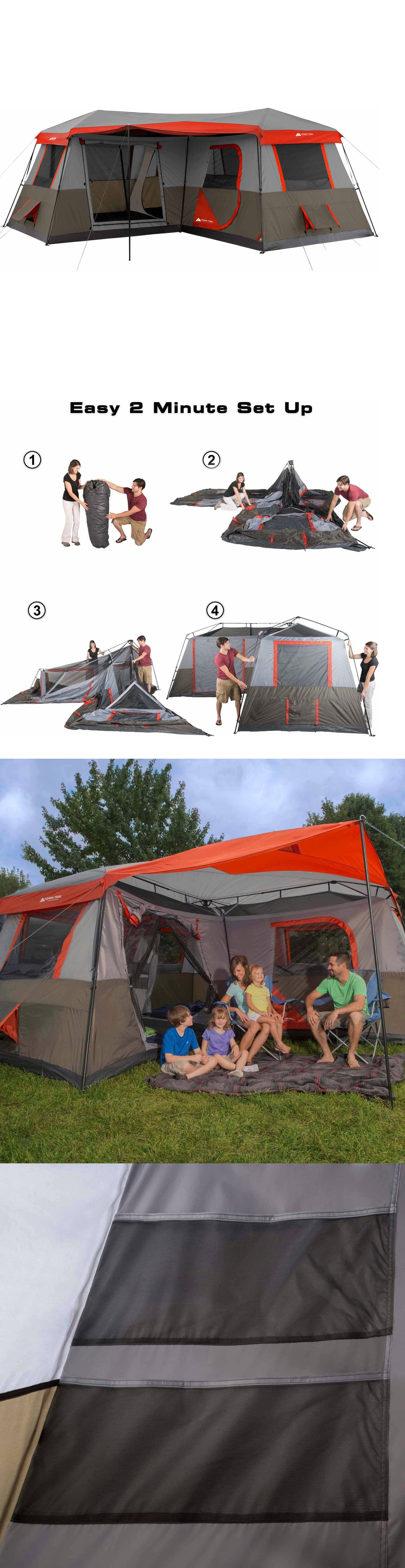 Tents 179010: Brand New Ozark Trail 12 Person 3 Room L Shaped Instant Cabin