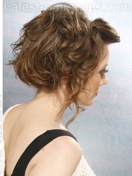 Medium Length Updos Tousled 2