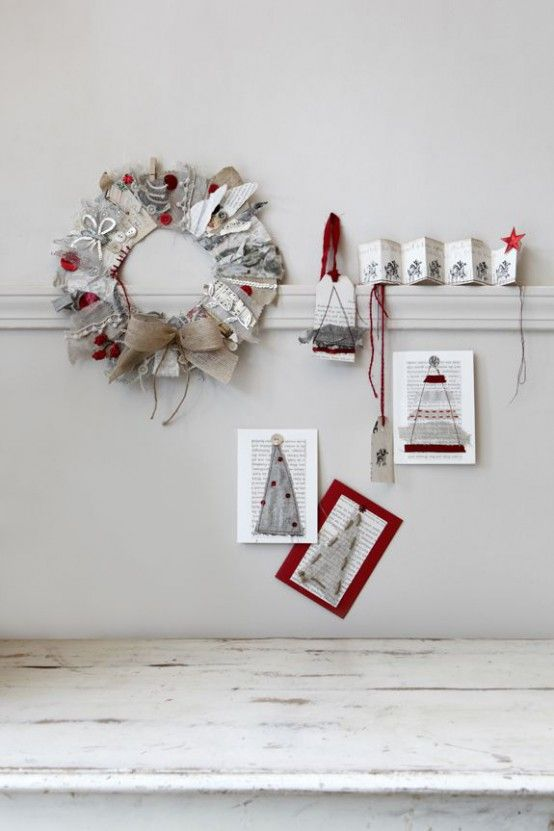 Cozy Red And Grey Christmas Decor Ideas Grey  Red Christmas - simple christmas decorating ideas