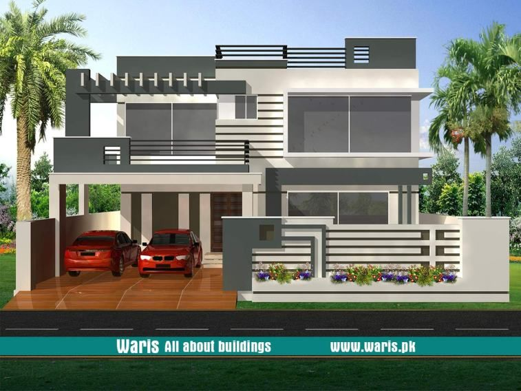House front elevation design view interior images in pakistan marla kanal designs ideas pictures waris also best modern houses rh pinterest