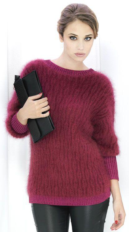 charonne pull angora tactel pull femme laines annyblatt angora pinterest tricot. Black Bedroom Furniture Sets. Home Design Ideas