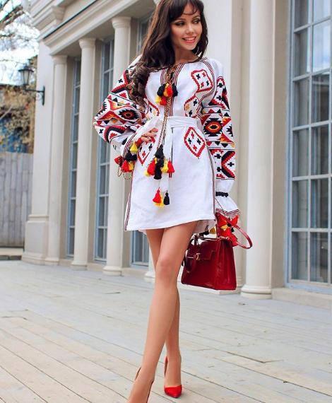 f679a76920 Ukrainian vyshyvanka dress embroidered boho Ukraine dresses custom  embroidery Vishivanka Bohemian st