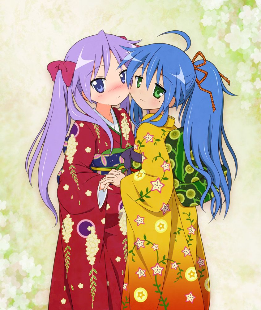 Lucky Star Hiragana: Lucky Star - Konata & Kagami