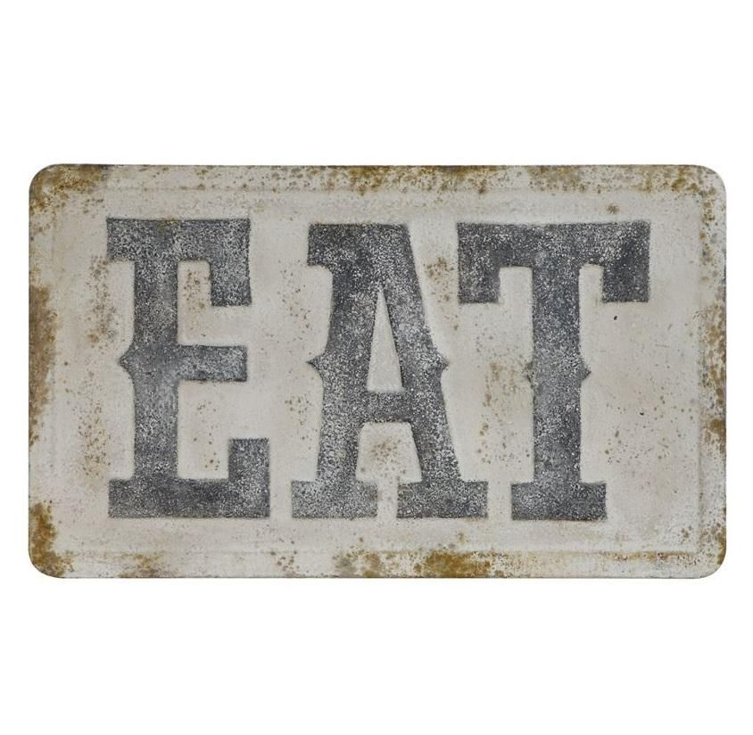 Large Vintage Embossed Metal Eat Sign Cute Home Decor Eat Sign Shabby Chic Diy
