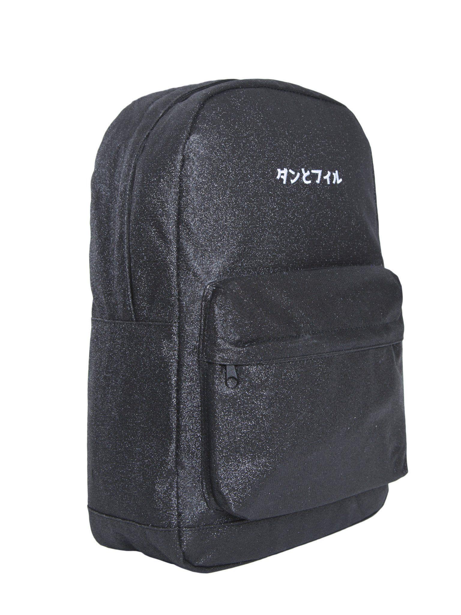 Black Glitter Japan Backpack... bootiful  9632ed628166