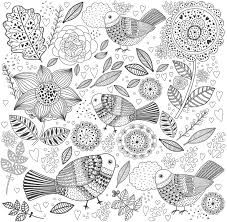 coloriage anti stress nature