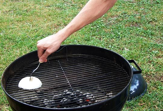 Clean your grill with an onion! When your grill is hot, take an onion half and clean your grill! It removes all the grit & grim without the use of harmful chemicals! We tried it & it worked beautifully!!!