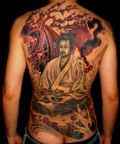Full Back Realistic Buddha Tattoo This Is Another Very Detailed