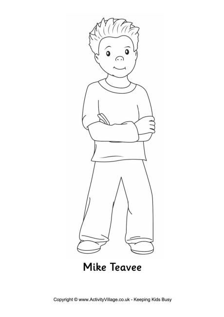 Mike Teavee colouring page | Charlie y la fábrica de chocolate ...