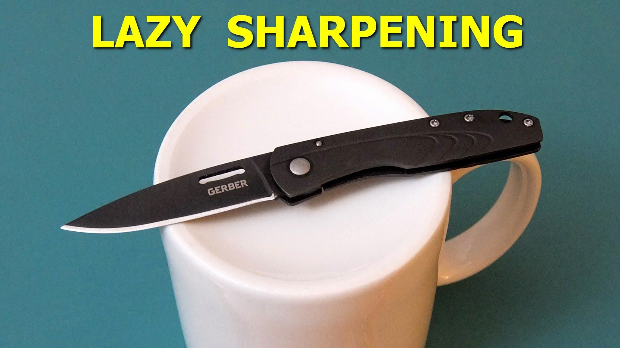 How to sharpen a knife using a cup knife kitchen knives