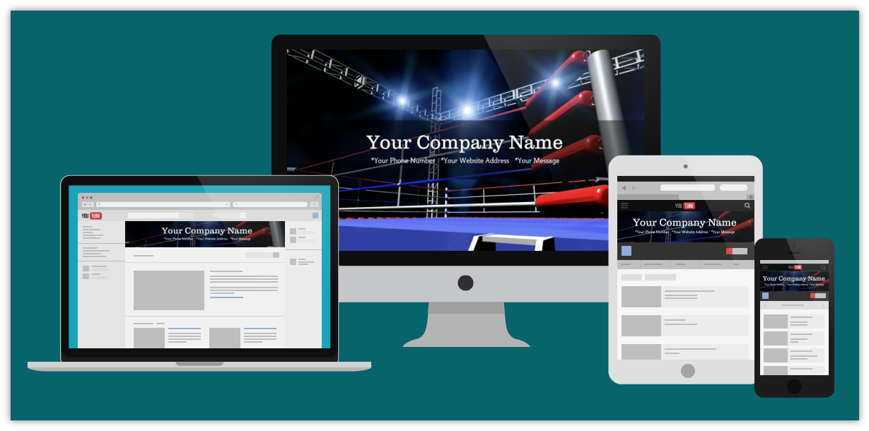 BOXING MAIN EVENT - YouTube Channel Cover Art   VISIT OUR GALLERY http://landingclients.com/VideoAds/youtube-channel-graphics/
