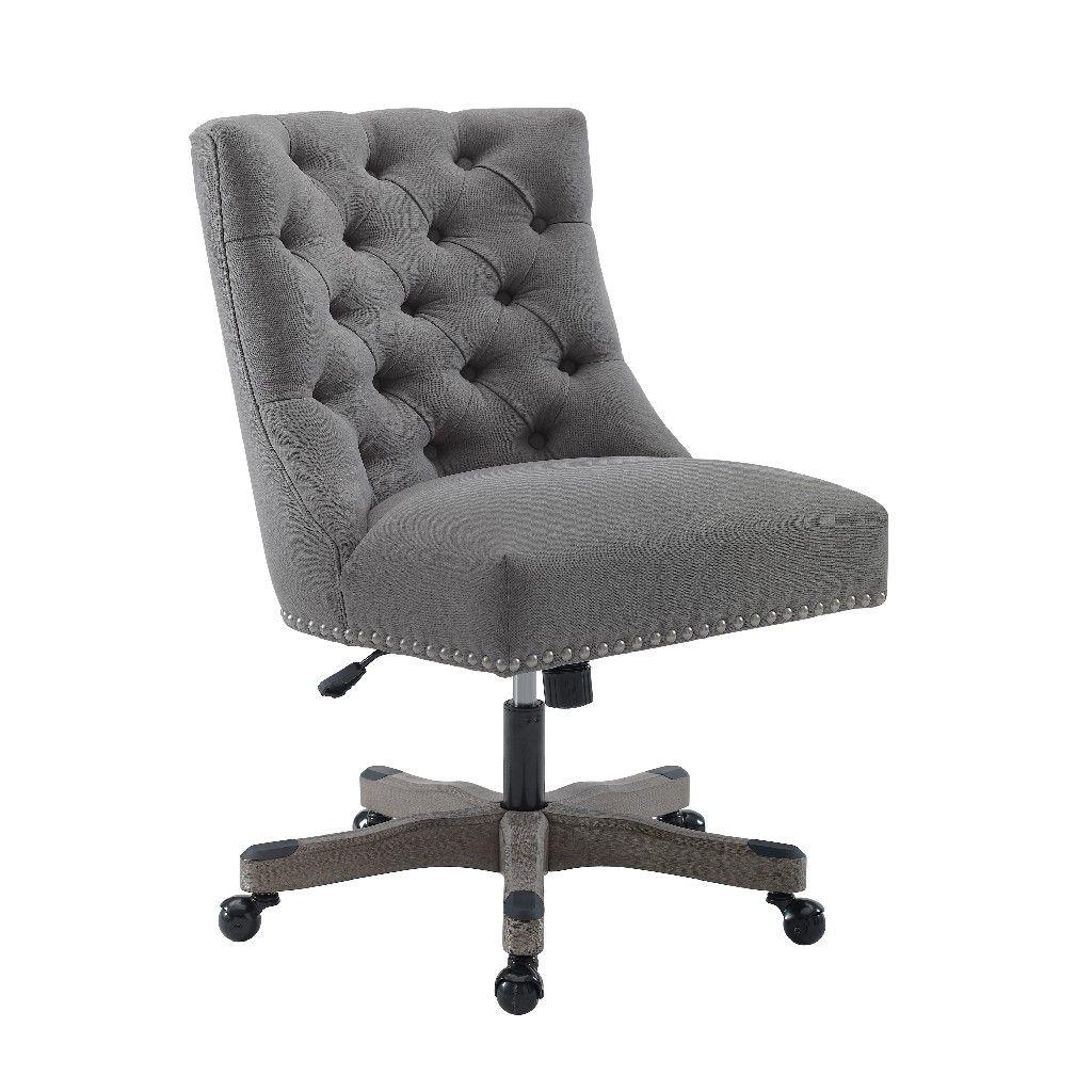 Della light gray office chair linon oc094lgry01u in 2020