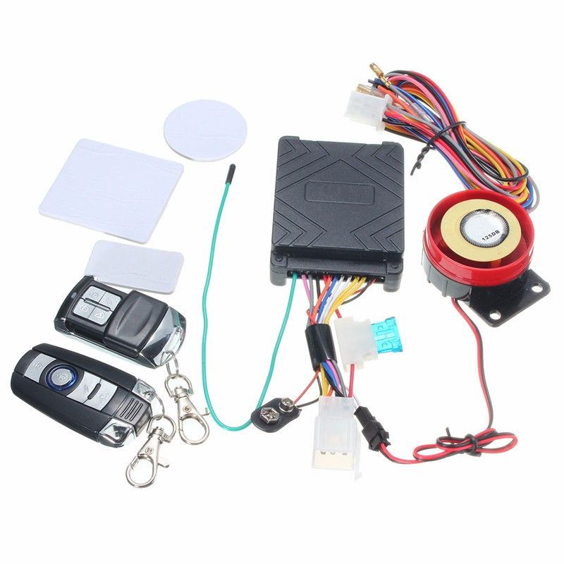 Ocamo Scooter Car High Power Siren Security Alarm System Remote Control 12V Anti-theft Motorcycle Bike Motorcycle Alarm Remote car alarm security system