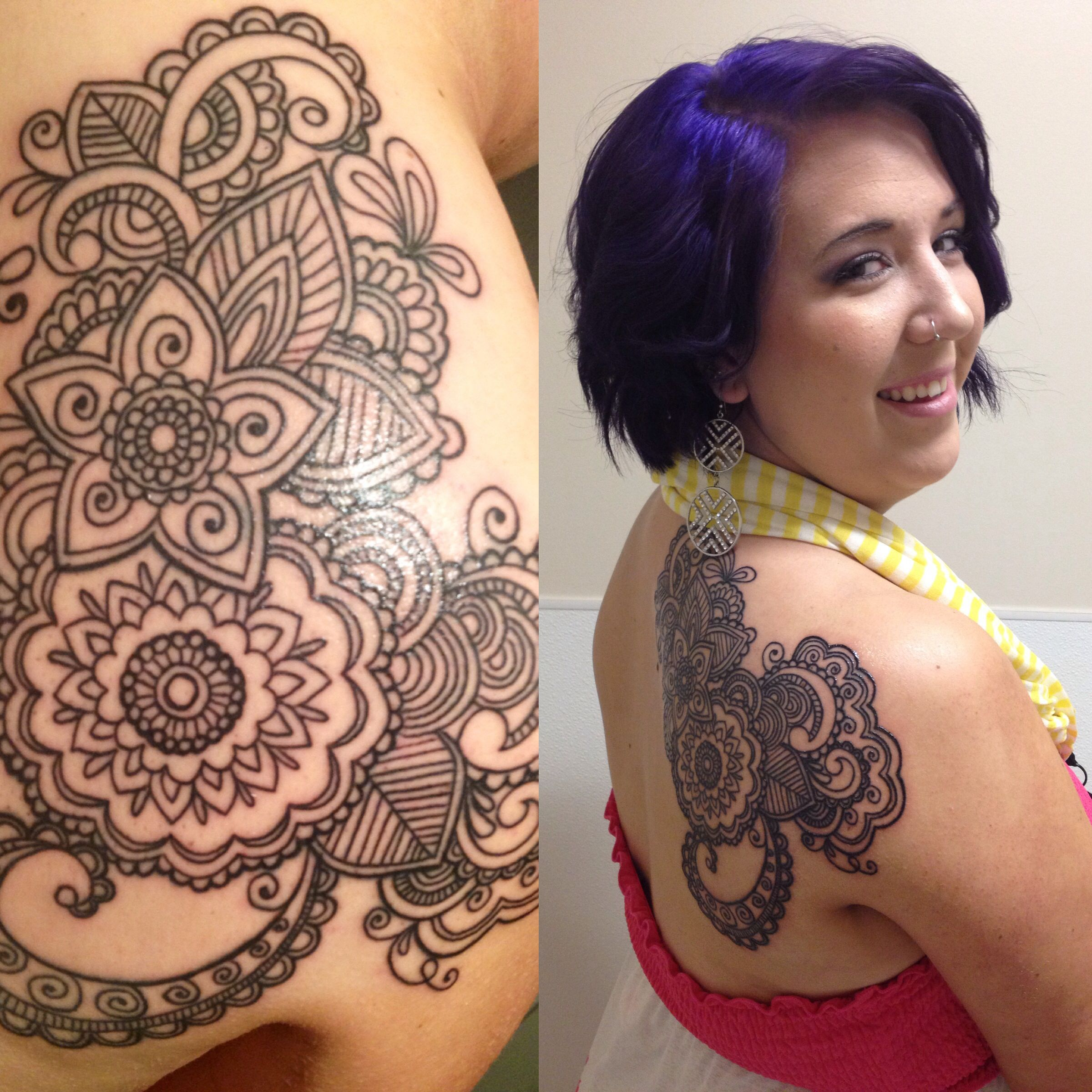 Tattoos arabesque tattoos arabeske tattoos arabesk tattoos - This Is My Beautiful Lace Paisley Tattoo Reminds Me How Beautiful This World Is And How Strong I Am Shoulder Tattoo Lace Tattoo Paisley Tattoo