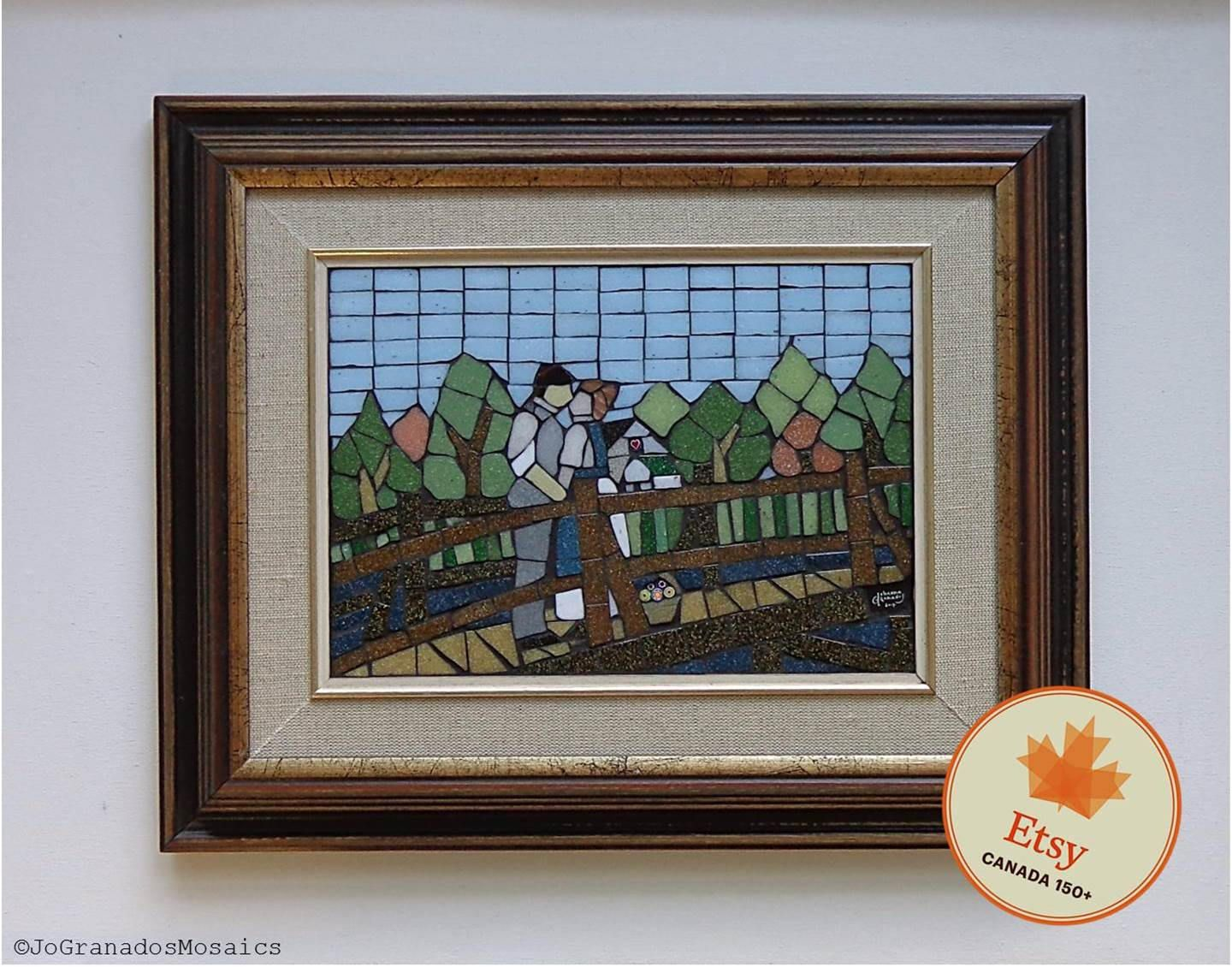 Sold Mosaic Wall Art Anne And Gilbert First Kiss Anne Of Green