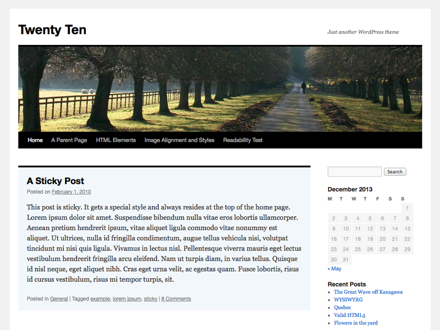 WordPress › Twenty Ten « Free WordPress Themes
